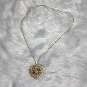 Jewelry - Long necklace with heart pendant